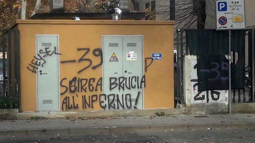 La digos indaga sulla scritta contro le vittime dell 39 heysel e scirea - Ansa bagno a ripoli ...